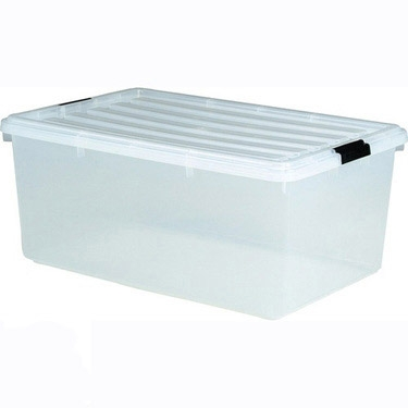 Iris 68 Qt Clear Plastic Storage Boxes, 5 Pack : Iris Stacking Bins