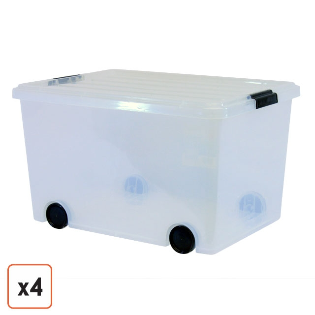 Plastic storage bins with wheels rolling storage bins