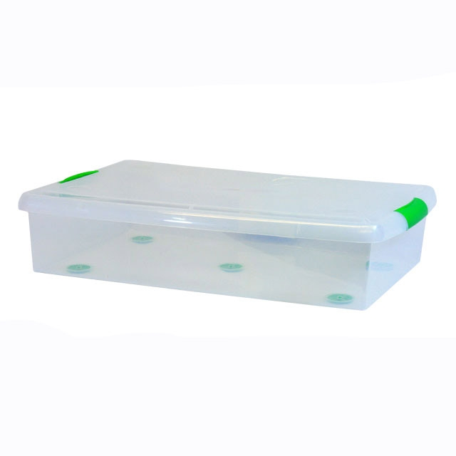 Iris Plastic Underbed Storage Box 6 Pack Clear Under Bed