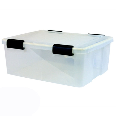 Iris Airtight Plastic Container, 30 Quart - Pack of 6