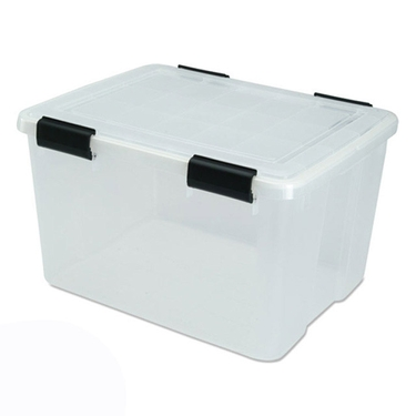 Iris Airtight Storage Bins, 46.6 Quart - Pack of 6