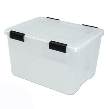 Iris Airtight Storage Bins, 46 Quart - Pack of 6