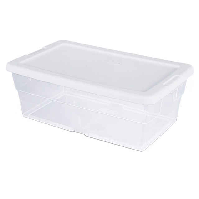 Sterilite 6 Qt Shoebox, Clear   Pack Of 12