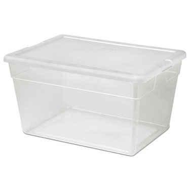 Sterilite 56 Quart Clear Plastic Tote - Pack of 8