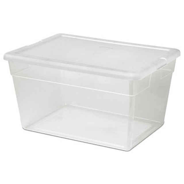 Sterilite 56 Quart Clear Plastic Tote   Pack Of 8