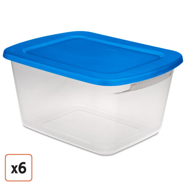 sterilite 60 quart stackable storage bin