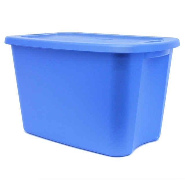 Sterilite 18 Gallon Tote Box : Lapis Blue Storage Bin, Sterilite 1830