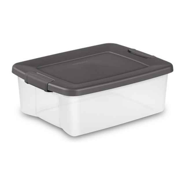 Clear Sterilite Shelf Tote 25 Qt - 6 Pack  sc 1 st  Just Plastic Boxes & Clear Storage Boxes : Clear Plastic Storage Containers Bins with Lids