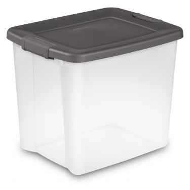 Sterilite Clear Shelf Tote, 50 Quart - 6 Pack