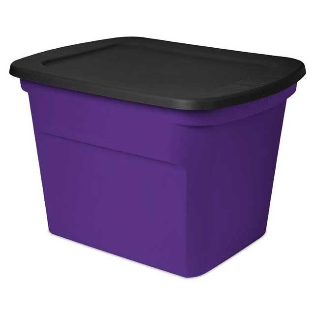 Sterilite 18 Gallon Purple & Black Tote : Purple Storage ...