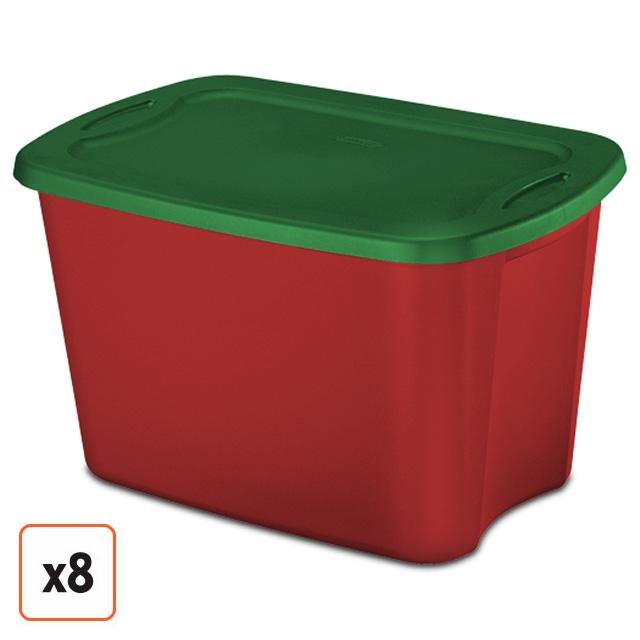 Download Sterilite 18 Gallon Christmas Storage Totes : Red & Green ...