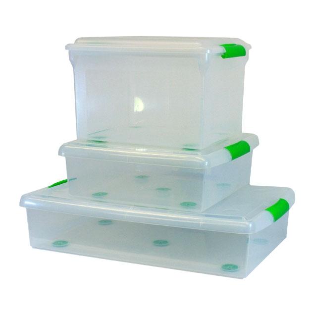 ... 25lt Croc Plastic Storage Box With Flip Lid ...