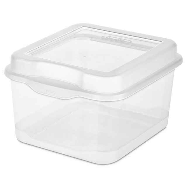 Sterilite Medium Flip Top Storage Box   Set Of 12