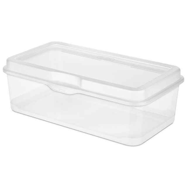 Superior Sterilite Large Flip Top Storage Box   Set Of 6