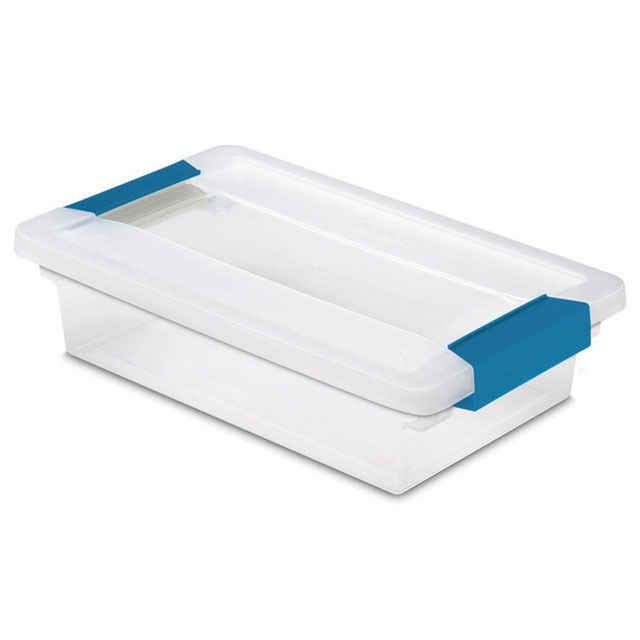 Sterilite Small Clip Box   Set Of 6