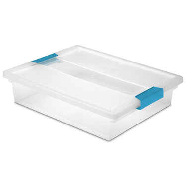 Sterilite Large Clip Box - Set of 6