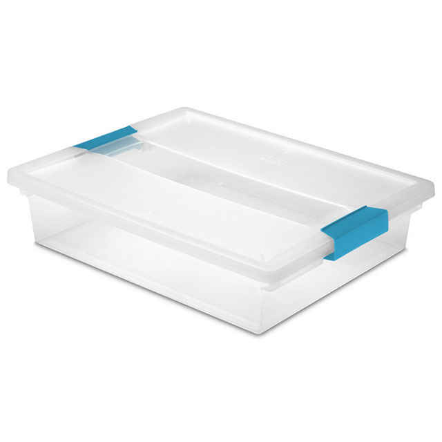 Sterilite Large Clip Box - Set of 6  sc 1 st  Just Plastic Boxes & Underbed Storage Boxes: Under Bed Containers Bins with Wheels