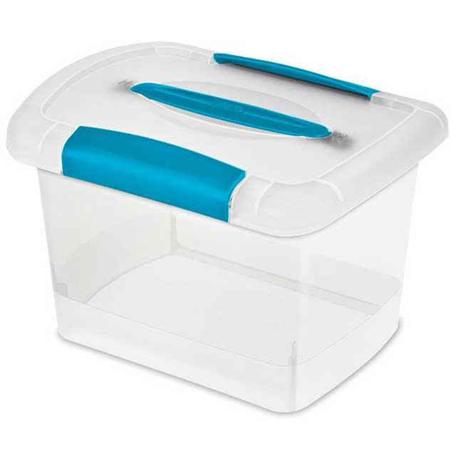 CD Storage Boxes Plastic Clear Stackable CD Boxes with Lids