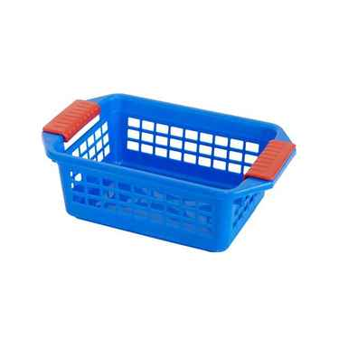 Flip-N-Stack Small Blue Plastic Baskets - Set of 24
