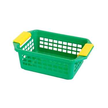 Flip-N-Stack Small Green Plastic Baskets - Set of 24