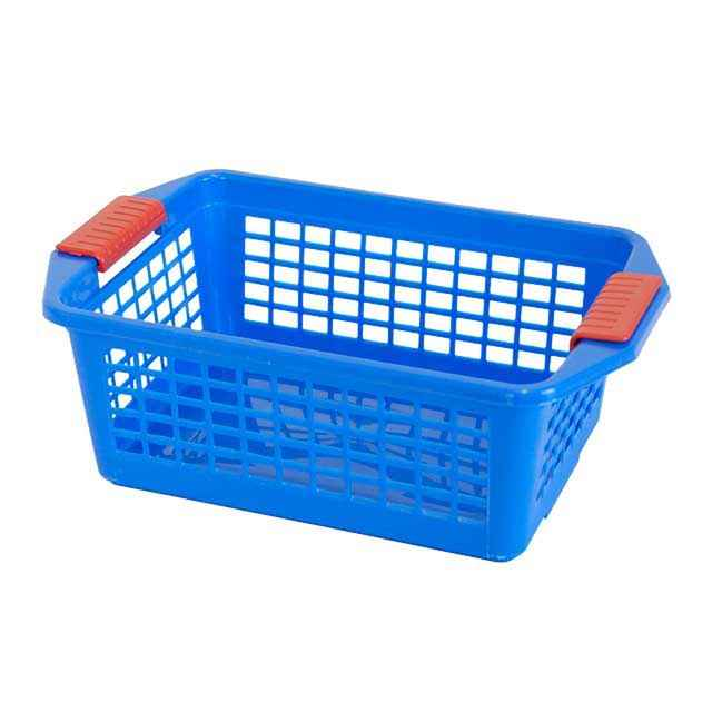 Flip N Stack Medium Blue Plastic Baskets   Set Of 12. Plastic Storage  Baskets