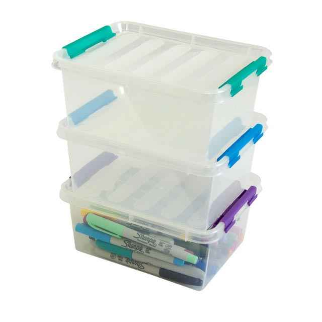 dial flip boxes medium plastic storage containers