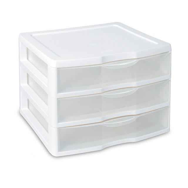 Plastic Container Drawers Sterilite ClearView 3 Storage