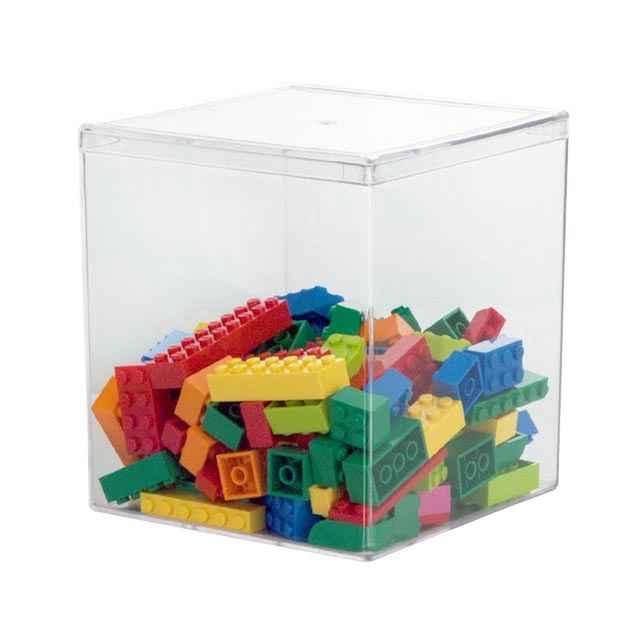 Acrylic Box 4 X 4 : Clear acrylic storage boxes  set of