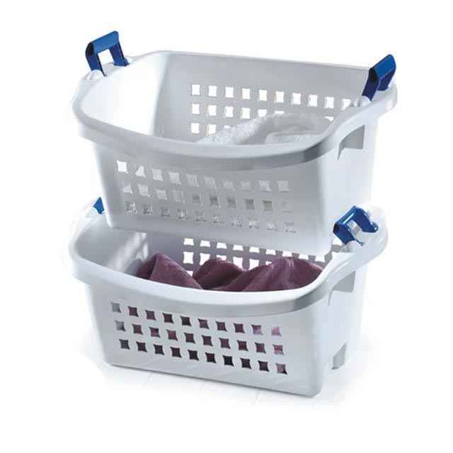 Rubbermaid Stack 'N Sort Laundry Baskets : Stacking Baskets
