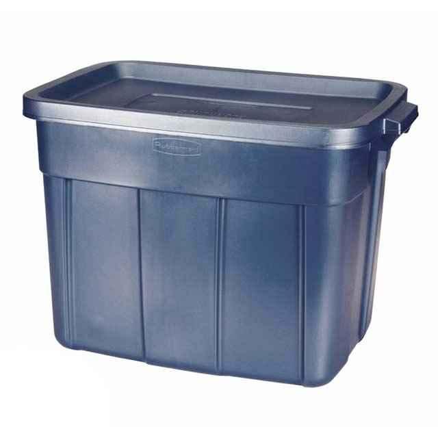 Rubbermaid Roughneck 18 Gallon Blue Tote : Wholesale Set of 12