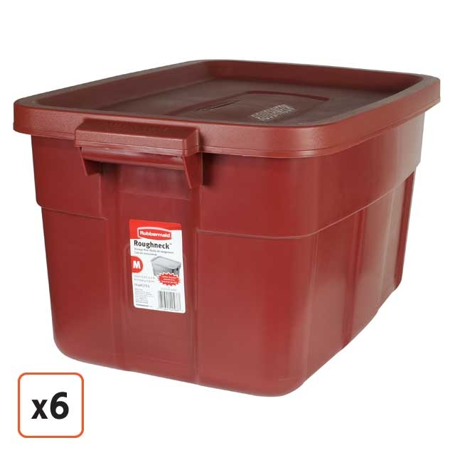 Red Rubbermaid Roughneck 14 Gallon Tote 2212