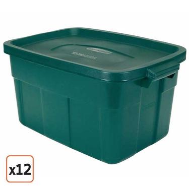 Rubbermaid Roughneck 14 Gallon Green Roughneck Tote Set