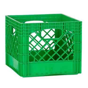 Green Plastic Milk Crates - Set of 96