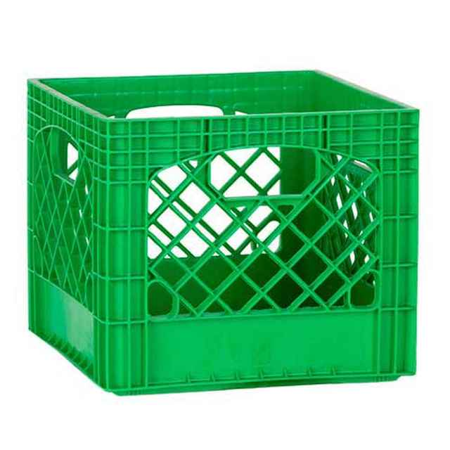 Green Plastic Milk Crates   Set Of 96