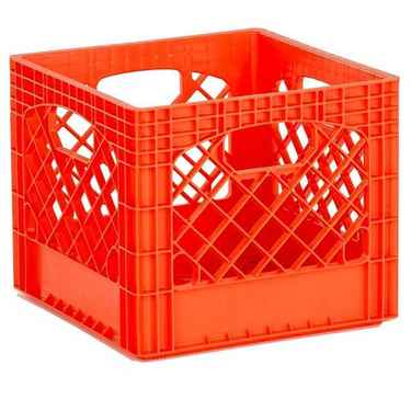 Orange Plastic Milk Crates - Set of 96