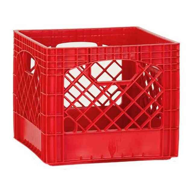 Red Milk Crates   Set Of 96
