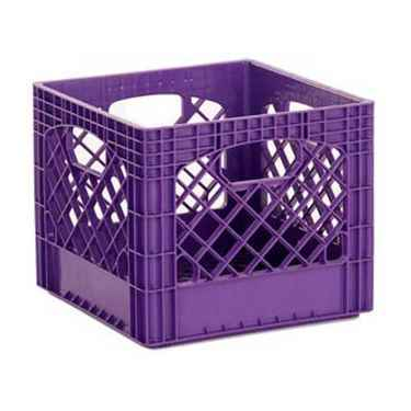 Heavy Duty Purple Plastic Milk Crates - Set of 96