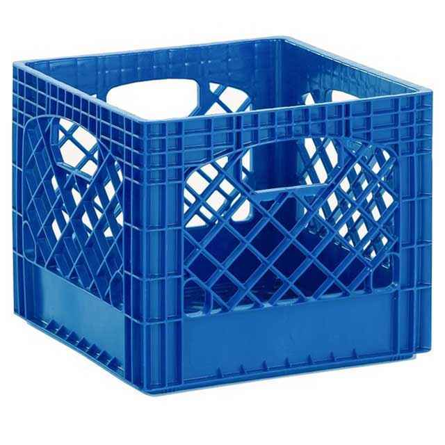 Superbe Heavy Duty Royal Blue Plastic Milk Crates   Set Of 96