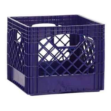 Navy Blue Plastic Milk Crates - Set of 96