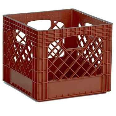 Brown Plastic Milk Crates - Set of 96