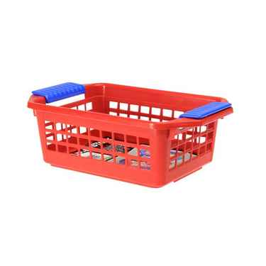 Flip-N-Stack Small Red Plastic Baskets - Set of 24