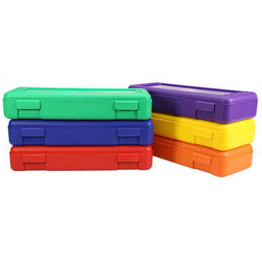 Large Pencil Case for Rulers, Multicolor set of 6