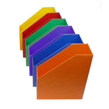 Plastic Magazine Holders, Multi-Color, set of 6