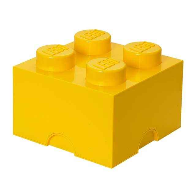 lego storage brick 4 yellow 6 pack. Black Bedroom Furniture Sets. Home Design Ideas