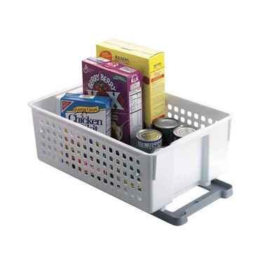 """Rubbermaid Slide 'n Stack Sliding Baskets, 14"""" - 4 Pack"""