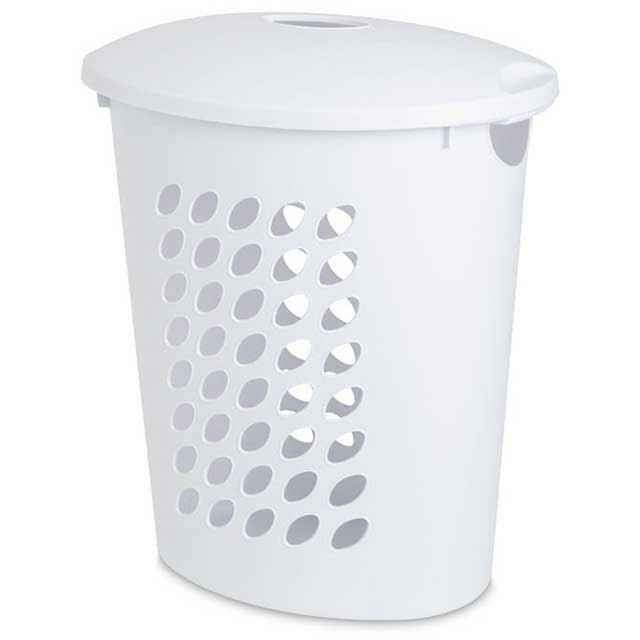Sterilite oval laundry hamper with lid white laundry hamper - Plastic hamper with lid ...