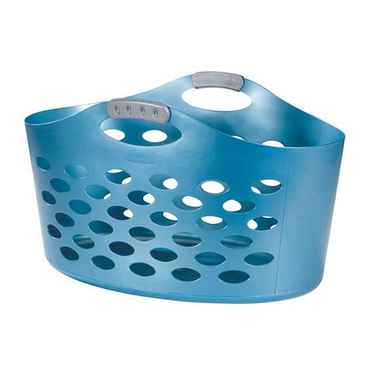 Rubbermaid Flex'n Carry Laundry Basket, Blue - Pack of 6