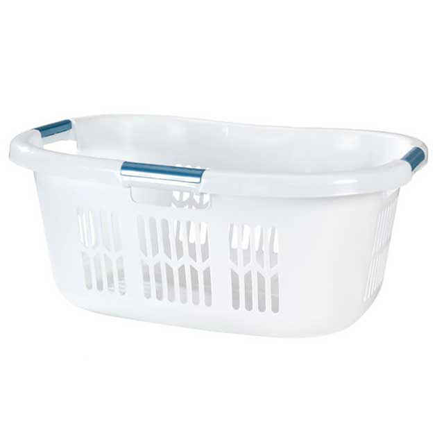 Large Rubbermaid Hip Hugger Laundry Basket White Pack Of 6