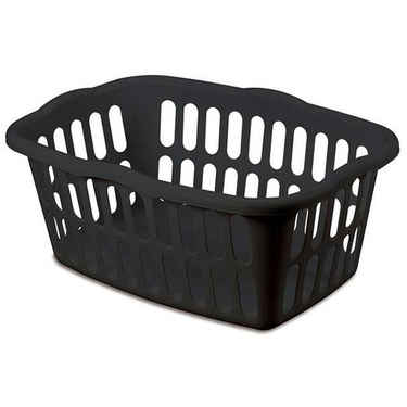 Sterilite Black Laundry Basket, 1.5 Bushel - Pack of 12